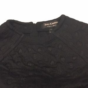 Juicy Couture Double Knit Logo Top with J zipper